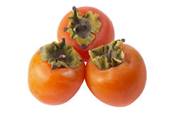 Three persimmons Stock Image