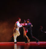 The three person Tango-the identity of the mystery-Tango Dance Drama Royalty Free Stock Image