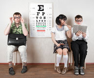 Three person wearing spectacles Royalty Free Stock Photos