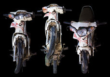 Three perspectives motorcycle accident. Royalty Free Stock Image