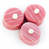 Three Petits Fours Royalty Free Stock Photography