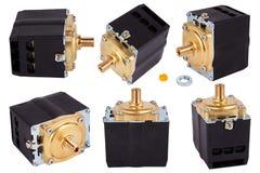 Three phase compressors. Pressure switch Control. Pressure switch for compressor. royalty free stock photo