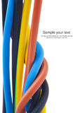 Three-phase electric cable Royalty Free Stock Images