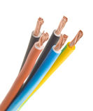 Three-phase electric cable Stock Photos