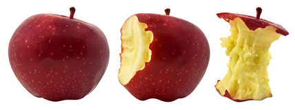 Three phases of apple Stock Photos