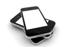 Three phones Stock Photos
