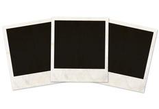 Three photo frames. On white background Stock Image