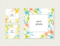 Three photo frames for your design. Vector Royalty Free Stock Images