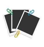 Three photos and three clips Royalty Free Stock Photos