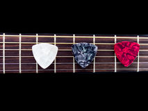 Three pick guitar Royalty Free Stock Image