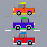 Three pickup truck. Royalty Free Stock Photography
