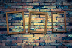 Three picture frame on the wall Royalty Free Stock Photos