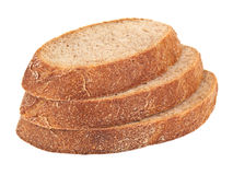 Three pieces of bread Royalty Free Stock Image