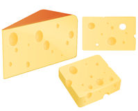 Three pieces of cheese Royalty Free Stock Photos
