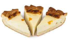 Three pieces cheesecake Royalty Free Stock Images