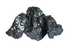 Three pieces of coal Royalty Free Stock Images