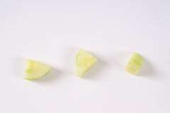 Three pieces of cucumber Royalty Free Stock Photo