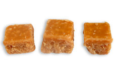 Three pieces of fudge. Stock Images