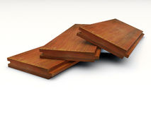 Three pieces of grooved wooden boards Royalty Free Stock Photo