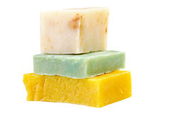 Three pieces handmade soaps Stock Photography