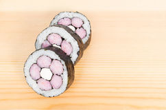 Three pieces a maki roll Royalty Free Stock Image