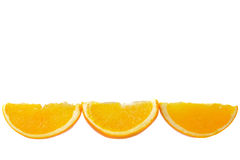 Three pieces of orange Royalty Free Stock Photo
