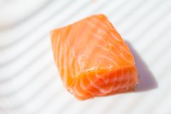 Three pieces of salmon Royalty Free Stock Images