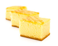 Three pieces of sponge cakes Royalty Free Stock Photos