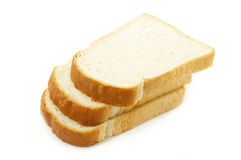Three pieces of white bread Royalty Free Stock Images