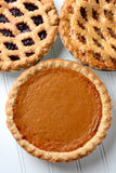 Three Pies Closeup Stock Images