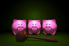 Three piggy banks for choice Royalty Free Stock Photo