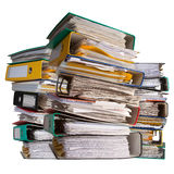 Three piles of file binder Stock Photo