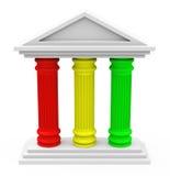 The three-pillar strategy Royalty Free Stock Image