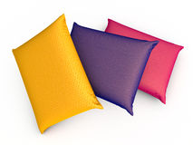 Three Pillows Stock Image