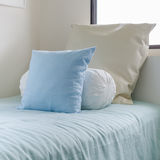 Three pillows on kid bed Stock Image