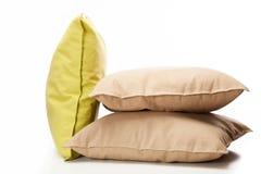 Three pillows. On white background royalty free stock image