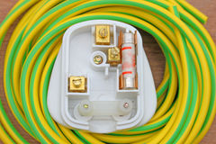 Three pin plug. Royalty Free Stock Photo
