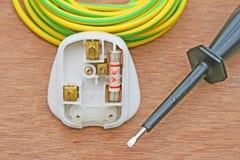 Three Pin Plug. Royalty Free Stock Images