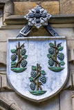 Three Pine Cones Coat Arms College Yale University New Haven Connecticut Stock Photo