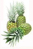 Three pineapples Stock Photo