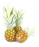 Three pineapples Stock Photography