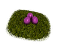 Three pink Easter eggs Stock Photos