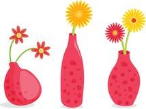 Three Pink Vasesa Stock Images
