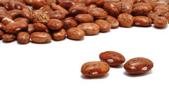 Three Pinto (Mottled) Beans in the Foreground Stock Photos