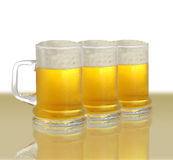 Three pints of beer Stock Image