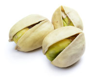 Three pistachio nuts Royalty Free Stock Images