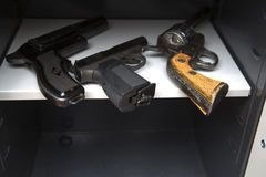 Three pistols Royalty Free Stock Photography