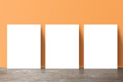 Three placard Stock Images