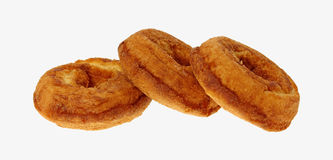 Three Plain Donuts Stock Photo