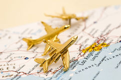 Three Planes Over California royalty free stock images